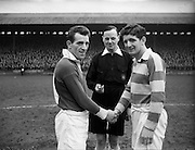 114/2/1953<br /> 2/14/1953<br /> 14 February 1953 <br /> Soccer, football: Cork United v Drumcondra at Tolka Park, Dublin. The team captains.