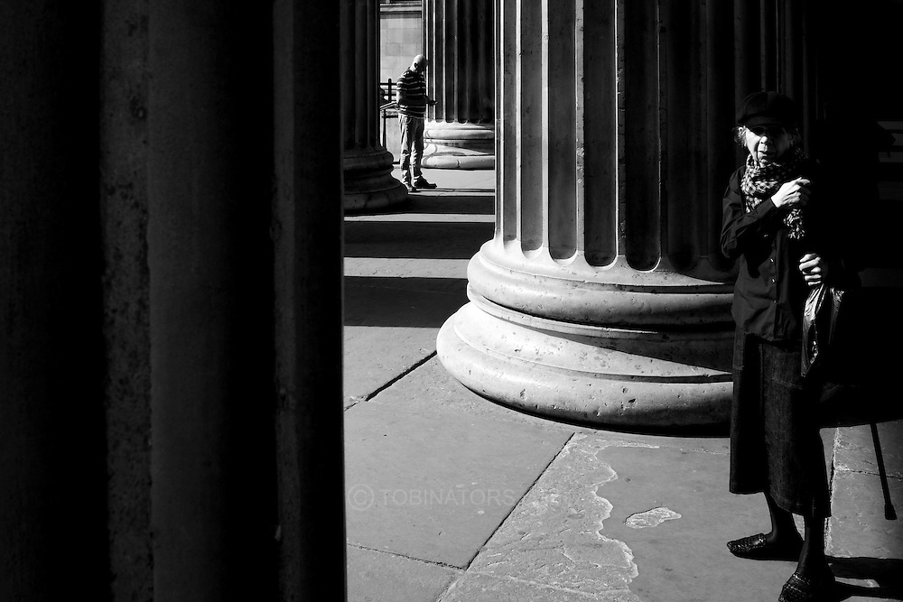 At the entrance to the British Museum in London. Photograph by Andrew Tobin/Tobinators Ltd