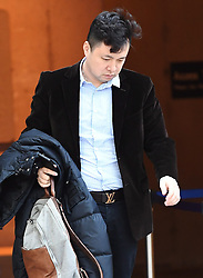 Liu Xiaozong, husband of Meng Wanzhou, Huawei's chief financial officer arrives at a B.C. courthouse following a break in the bail hearing for his wife on Monday, December 10, 2018 in Vancouver, BC, Canada. Photo by Jonathan Hayward/CP/ABACAPRESS.COM