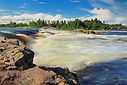 Chutes à Michel on rivière Ashuapmushuan River <br /> Saint-Félicien<br /> Quebec<br /> Canada