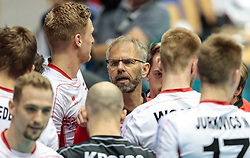 09.06.2017, TipsArena, Linz, AUT, FIVB, World League, Österreich vs Deutschland, Division III, Gruppe C, Herren, im Bild Trainer Michael Warm (AUT) // Trainer Michael Warm (AUT) during the men's FIVB, Volleyball World League, Division III, Group C match between Austria and Germany at the TipsArena in Linz, Austria on 2017/06/09. EXPA Pictures © 2017, PhotoCredit: EXPA/ JFK