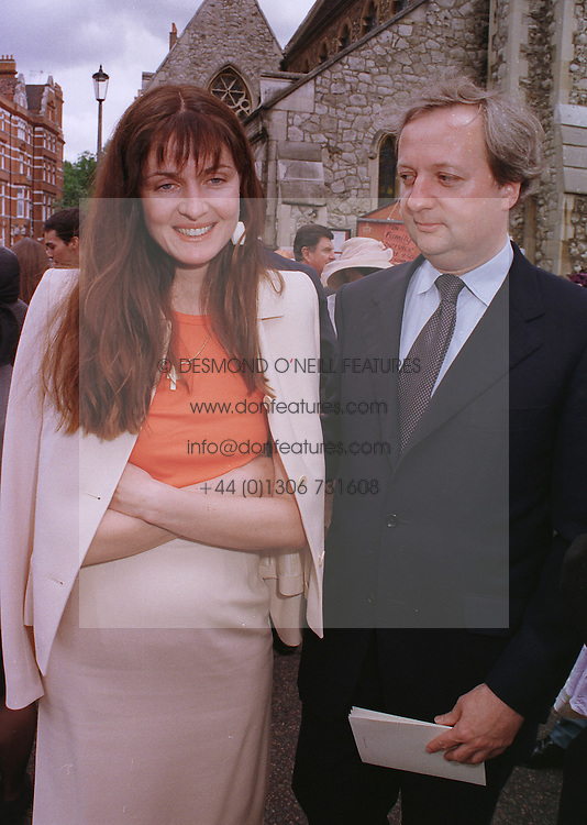 Artist INDIA JANE BIRLEY and her husband, at a wedding in London on 5th June 1999.MSW 104