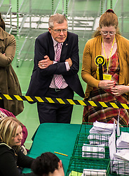 Scottish Lib Dem leader Willie Rennie can't hide the nerves during the third recount of the North East Fife constituency.<br /> © Dave Johnston/ EEm