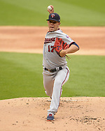 CHICAGO - JUNE 28:  Jose Berrios #17 of the Minnesota Twins pitches against the Chicago White Sox on June 28, 2019 at Guaranteed Rate Field in Chicago, Illinois.  (Photo by Ron Vesely)  Subject:  Jose Berrios