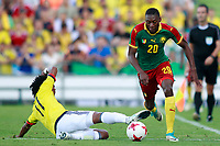 Colombia's Juan Guillermo Cuadrado (l) and Camerun's Toko during international friendly match. June 13,2017.(ALTERPHOTOS/Acero)
