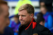 Bournemouth Manager Eddie Howe looks on from the dugout. Premier league match, Everton vs Bournemouth at Goodison Park in Liverpool, Merseyside on Saturday 23rd September 2017.<br /> pic by Chris Stading, Andrew Orchard sports photography.