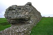 Wall of Roman castle, Richborough  Kent, England, UK