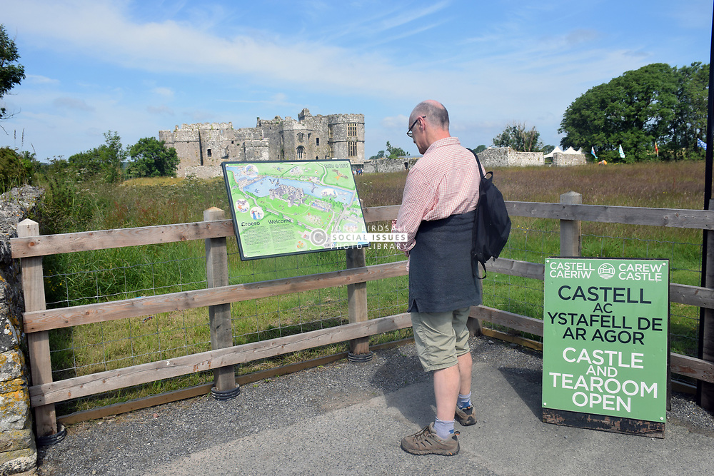 Carew Castle, Pembrokeshire, South Wales 2021. MR