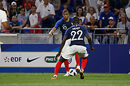 Kylian Mbappe of France and Benjamin Mendy of France during the 2018 Friendly Game football match between France and USA on June 9, 2018 at Groupama stadium in Decines-Charpieu near Lyon, France - Photo Romain Biard / Isports / ProSportsImages / DPPI