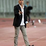 Besiktas's head coach Samet Aybaba during their Turkish Superleague soccer match IBBSK between Besiktas at the Ataturk Olympic stadium in Istanbul Turkey on Sunday 19 August 2012. Photo by TURKPIX