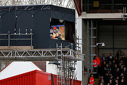 BBC Match of the Day host gary Lineker works in the temporary TV studio - Photo mandatory by-line: Rogan Thomson/JMP - 07966 386802 - 25/01/2015 - SPORT - FOOTBALL - Bristol, England - Ashton Gate Stadium - Bristol City v West Ham United - FA Cup Fourth Round Proper.