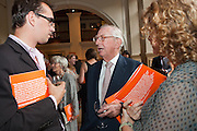 Lord Sainsbury talking with guests at the 2010 Ashden Awards reception.
