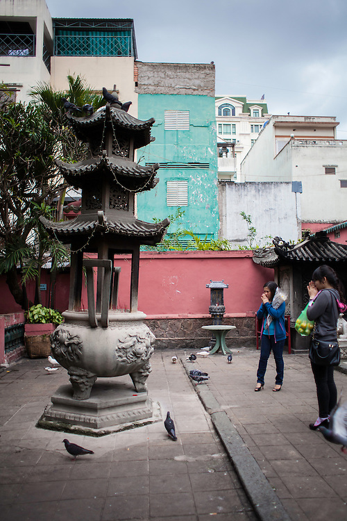 Built in 1909 in honor of the supereme Taoist god Ngoc Hoang. Saigon, Vietnam