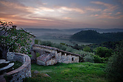 The view from Montestigliano resort in Siena Italy.