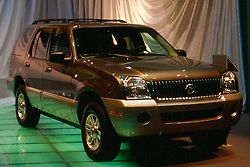 mercury suv as seen at the Chicago Auto Show in February 2001 at McCormick Place, Chicago Illinois...This image was scanned from a slide, print or transparency.  Image quality may vary.  Dust and other unwanted artifacts may exist.
