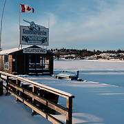 The small tourist town of Kenora in Northern Ontario, Canada is surrounded by a number of First Nations reserves, including the Ochiichagwe'Babigo'Ining Ojibway Nation reserve (also known as the Dalles First Nation).