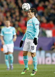 15-03-2016 ESP, UEFA CL, Atletico Madrid - PSV Eindhoven, Madrid<br /> PSV Eindhoven's Andres Guardado // during the UEFA Champions League Round of 16, 2nd Leg match between Atletico Madrid and PSV Eindhoven at the Estadio Vicente Calderon in Madrid, Spain on 2016/03/15. <br /> <br /> ***NETHERLANDS ONLY***