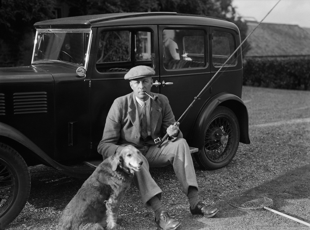 Mr. A.G. Street on His Farm in Wiltshire, England, c.1933