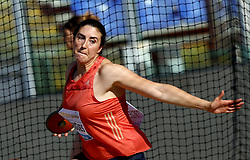 May 31, 2018 - Rome, Italy - Irina Rodrigues (POR) competes in discus throw women during Golden Gala Iaaf Diamond League Rome 2018 at Olimpico Stadium in Rome, Italy on May 31, 2018. (Credit Image: © Matteo Ciambelli/NurPhoto via ZUMA Press)