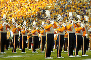 September 27, 2008; Baton Rouge, LA, USA; LSU Tigers marching band performs their pre-game show at Tiger Stadium in Baton Rouge. LSU defeated the Mississippi State Bulldogs 34-24. Mandatory Credit: Crystal LoGiudice-US PRESSWIRE