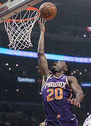 November 28, 2018 - Los Angeles, California, U.S - Josh Jackson #20 of the Phoenix Suns goes for a layup during their NBA game with the Los Angeles Clippers  on Wednesday November 28, 2018 at the Staples Center in Los Angeles, California. Clippers vs Suns. (Credit Image: © Prensa Internacional via ZUMA Wire)