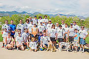 Group photo during charity event. Denver, Colorado