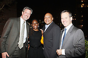 l to r: Councilman Bill DeBlasio(Public Advocate Candidate), his wife Chirlane DeBlasio, Asemblyman Karim Camara and St.Senator Eric Schartwzman at Rev. Al Sharpton's 55th Birthday Celebration and his Salute to Women on Distinction held at The Penthouse of the Soho Grand on October 6, 2009 in New York City