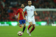 Andros Townsend of England in action. England v Spain, Football international friendly at Wembley Stadium in London on Tuesday 15th November 2016.<br /> pic by John Patrick Fletcher, Andrew Orchard sports photography.