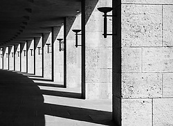 Passageway on perimeter of Olympiastadion ( Olympic Stadium) in Berlin, Germany