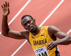 12-08-2017 IAAF World Championships Athletics day 9, London<br /> Usain Bolt JAM, 4 x 100 m