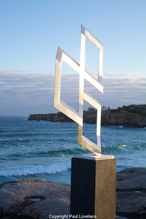 The world's largest free-to-the-public outdoor sculpture exhibition, Sculpture by the Sea, Bondi. .Fatih Semiz- Isometric Trinity