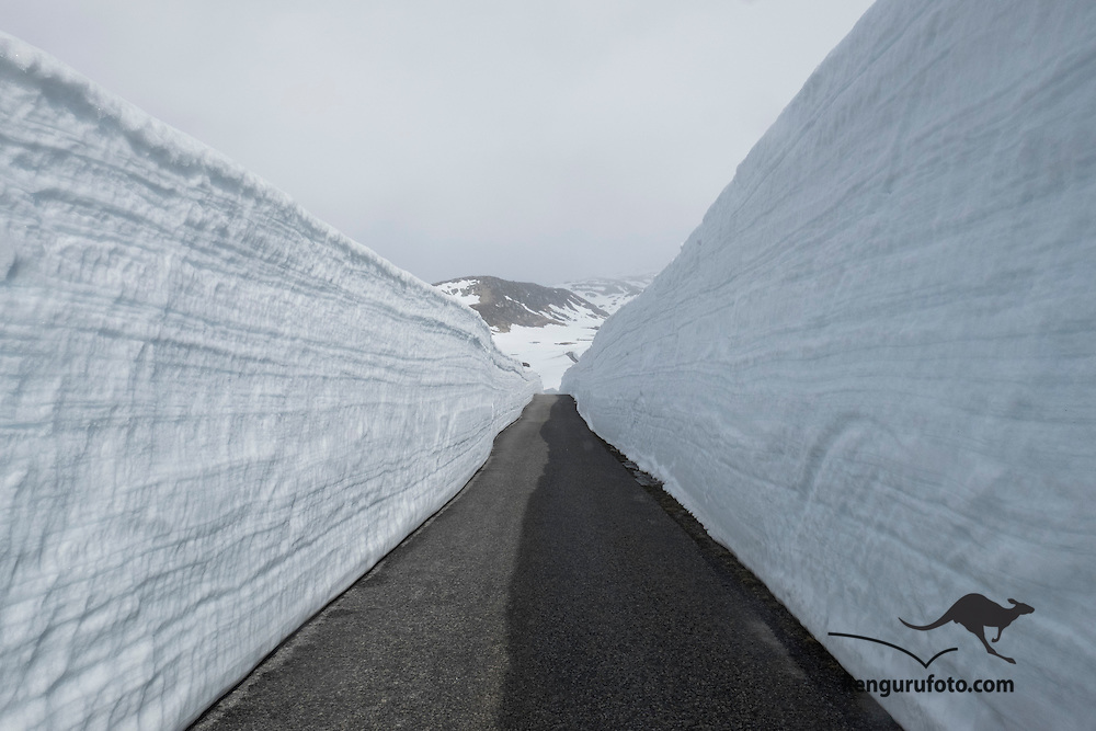 Photo from the mountainroad beetween Stesdalen and Sirdal in Norway. From Brokke to Suleskard. Closed for driving during6-7 mnt a year. This year most snow for 20 years up to 13 meters in some areas. Recomended for tourists.