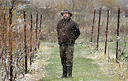 Will Ouweleen, opponent of LPG storage, at his vineyard, Eagle Crest Vineyards in Conesus, NY, Thursday, Nov. 13, 2014.<br /> (Heather Ainsworth for The New York Times)