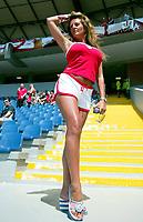 Fotball, 17. juni 2004, EM, Euro 2004, Sveits- England, supporter, fan, fans, babe, illustrasjon<br /> <br /> Foto: Digitalsport