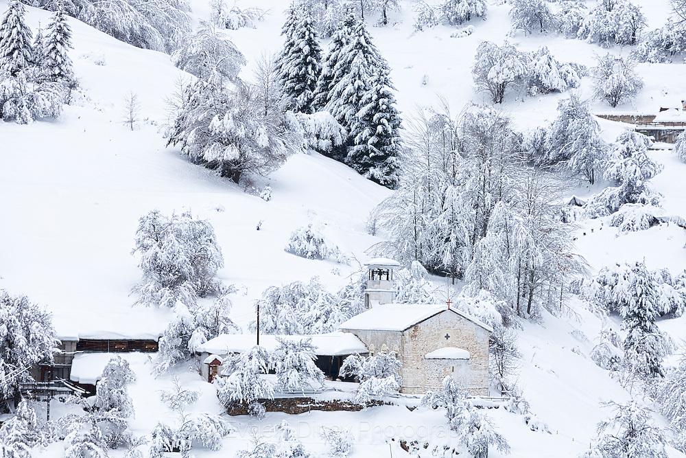 Snowy Rhodopean village