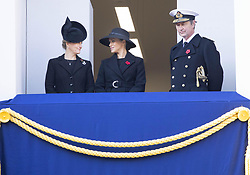 November 10, 2019, London, UK: 10-11-219 England Meghan Markle Duchess of Sussex, Sophie, Countess of Wessex and Prince Edward, Earl of Wessex during the national service of remembrance at the Cenotaph in Westminster, London, Britain. (Credit Image: © face to face via ZUMA Press)