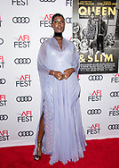 """Jodie Turner-Smith attends the """"Queen & Slim"""" Premiere at AFI FEST 2019 presented by Audi at the TCL Chinese Theatre in Hollywood, California."""