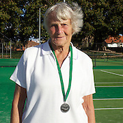 Betty Howard, Great Britain, Runner up, 80 Womens Singles competition during the 2009 ITF Super-Seniors World Team and Individual Championships at Perth, Western Australia, between 2-15th November, 2009
