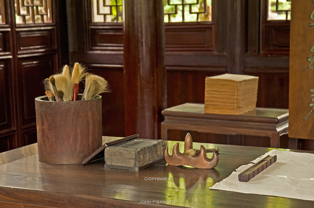 Writing Tools on display in the Yu Yuan Gardens of Shanghai