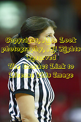 07 December 2012:  Referee Amy Bonner during an NCAA women's basketball game between the Northwestern Wildcats and the Illinois Sate Redbirds at Redbird Arena in Normal IL