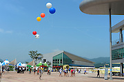 Chungju, South Korea. General Views Boathouse, and other buildings, 2013 FISA World Rowing Championships,  at the Tangeum Lake International Regatta Course. 11:22:14  Saturday  24/08/2013 [Mandatory Credit. Peter Spurrier/Intersport Images]
