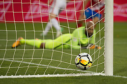 """September 1, 2017 - Harrison, New Jersey, U.S - USMNT goalkeeper TIM HOWARD (1) watches a the ball goes into the net scored but Costa Rica forward MARCO URE""""A (21) during a World Cup qualifier match at Red Bull arena in Harrison, NJ.  Costa Rica defeats USA 2 to 0. (Credit Image: © Mark Smith via ZUMA Wire)"""