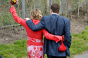 On Queensday, april 30th the Queen attends the celebrations of Queensday in Scheveningen near the Hague.<br /> This is her 25th jubilee.<br /> <br /> Op Koninginnedag, 30 april, is de Koningin  's Middags aanwezig metn en haar familie het koninginnedagfeest mee te vierten in Scheveningen.<br /> <br /> On The photo / On the Photo;<br /> <br /> Prince Constantijn en Princes Laurentien / Prins Constantijn en Prinses Laurentien