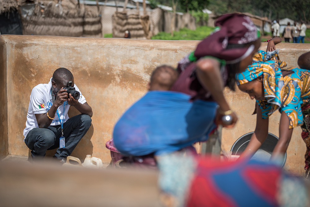 5 June 2019, Gado, Cameroon: Moise Amedje works in communication at the Lutheran World Federation World Service programme in Cameroon. Based in Maroua, today he visits the Gado refugee camp in the East region of Cameroon. Supported by the Lutheran World Federation, the Gado refugee camp in he East region of Cameroon hosts more than 25,000 refugees from neighbouring Central African Republic.