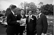 3/11/1967<br /> 11/3/1967<br /> 3 November 1967<br /> <br /> Mr. G.P Harvey with three of the Promotional team Mr. Denis J. Foley of Cork; Mr. John G. Whittaker. also of Cork and Mr. Ron Delaney