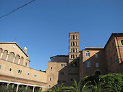 Italy, Rome, Santa Maria in Cosmedin, bell tower,