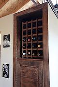 Handmade wooden wine storage cabinet