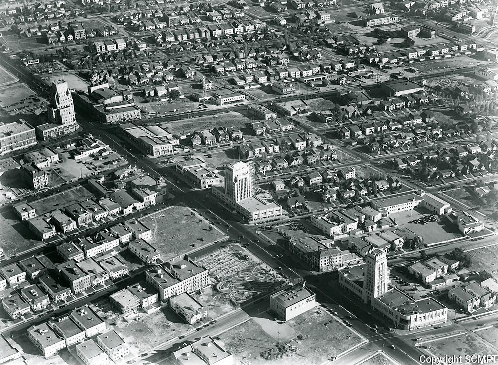 1930 Aerial photo of Wilshire Blvd. west of La Brea Ave.