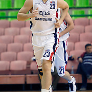 Efes Pilsen's Ermal KURTOGLU during their Turkish Basketball league match Efes Pilsen between Antalya BSB at the Ayhan Sahenk Arena in Istanbul Turkey on Wednesday 21 April 2010. Photo by Aykut AKICI/TURKPIX