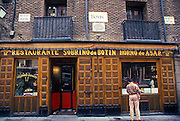 SPAIN, MADRID, ENTERTAINMENT Botin's,16thc, world's oldest restaurant